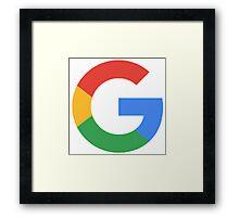 Google G Framed Print