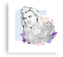 Flower Harry Canvas Print