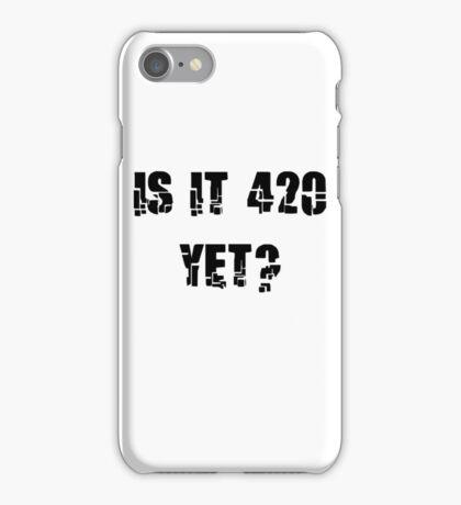 Funny Marijuana 4:20 iPhone Case/Skin
