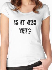 Funny Marijuana 4:20 Women's Fitted Scoop T-Shirt