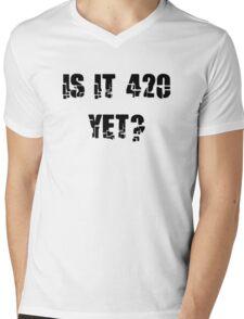 Funny Marijuana 4:20 Mens V-Neck T-Shirt