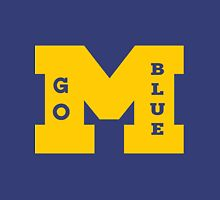 M Go Blue in Gold Unisex T-Shirt