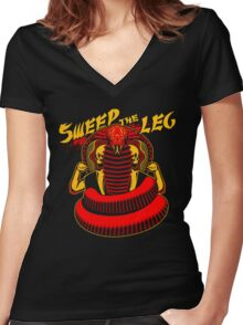 Sweep the Leg Women's Fitted V-Neck T-Shirt