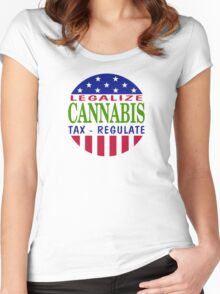 Legalize Cannabis Women's Fitted Scoop T-Shirt
