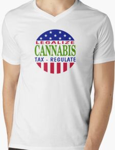 Legalize Cannabis Mens V-Neck T-Shirt