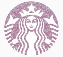 Starbucks Coffee Mermaid Logo in Pink Glitter - Hipster/Tumblr/Trendy Meme by Vrai Chic