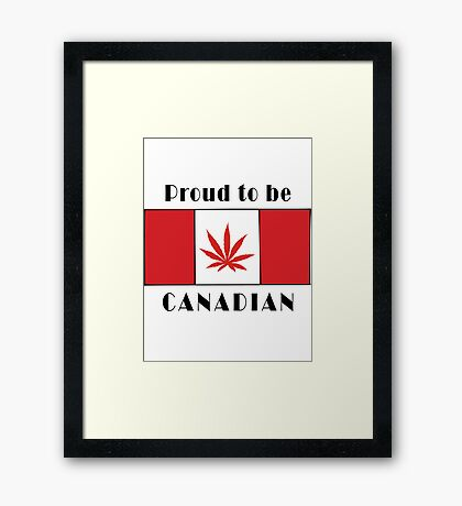 Canadian Flag Weed Framed Print