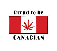 Canadian Flag Weed Photographic Print