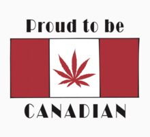 Canadian Flag Weed by MarijuanaTshirt