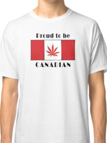 Canadian Flag Weed Classic T-Shirt
