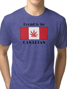 Canadian Flag Weed Tri-blend T-Shirt