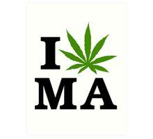 I Marijuana Massachusetts Art Print
