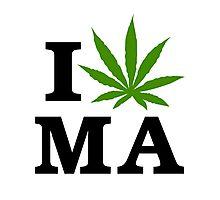 I Marijuana Massachusetts Photographic Print