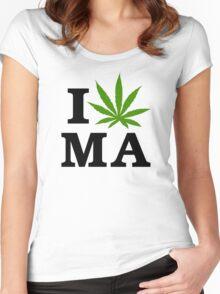 I Marijuana Massachusetts Women's Fitted Scoop T-Shirt
