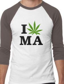 I Marijuana Massachusetts Men's Baseball ¾ T-Shirt