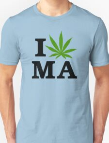 I Marijuana Massachusetts Unisex T-Shirt