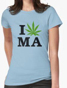 I Marijuana Massachusetts Womens Fitted T-Shirt