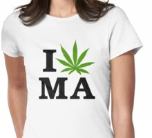 I Marijuana Massachusetts Womens Fitted T-Shirt