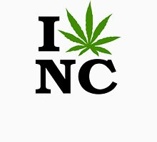 I Love North Carolina Marijuana Cannabis Weed Unisex T-Shirt