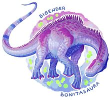 Bigender Bonitasaura (with text) by R.A.  Faller