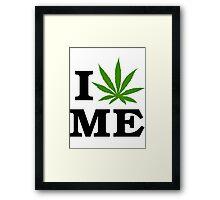 I Love Maine Marijuana Cannabis Weed Framed Print