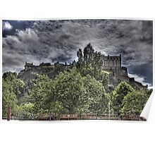 Castle behind the trees Poster