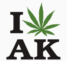 I Love Alaska Marijuana Cannabis Weed  by MarijuanaTshirt