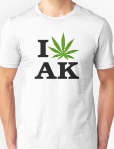 I Love Alaska Marijuana Cannabis Weed  Unisex T-Shirt