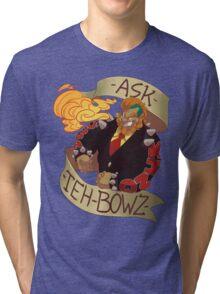 Ask-The-Bowz 1st anniversary design-Jacket Tri-blend T-Shirt