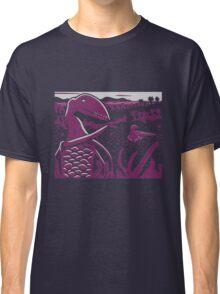 Dimorphodon and Scelidosaurus - Gray and Purple Classic T-Shirt