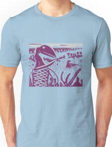 Dimorphodon and Scelidosaurus - Gray and Purple T-Shirt