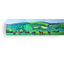 Summer Grazing (triptych) Canvas Print