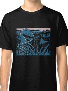 Dimorphodon and Scelidosaurus - Purple and Blue Classic T-Shirt