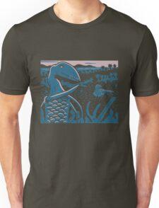 Dimorphodon and Scelidosaurus - Purple and Blue T-Shirt