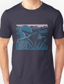 Dimorphodon and Scelidosaurus - Purple and Blue T-Shirt