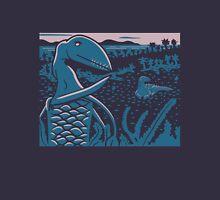 Dimorphodon and Scelidosaurus - Purple and Blue Unisex T-Shirt