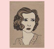 1920s Vintage Female Portrait 1 Baby Tee