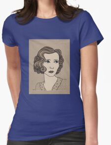 1920s Vintage Female Portrait 1 Womens Fitted T-Shirt
