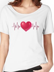 Heart and pulse Women's Relaxed Fit T-Shirt