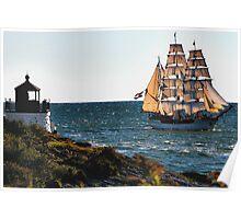 Newport, RI, a tall sailing ship Poster