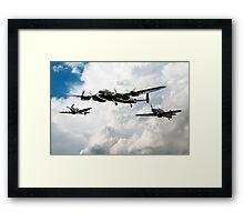 Lancaster Spitfire Hurricane Framed Print