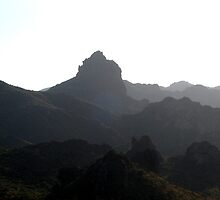 Silhouette of the Superstition Mountains by Matt Ravick