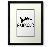 Parkour geek nerd Framed Print