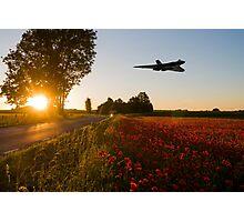 Bomber Sundown Photographic Print