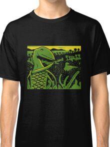Dimorphodon and Scelidosaurus - Yellow and Green Classic T-Shirt