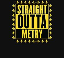 Straight Outta Metry Women's Fitted V-Neck T-Shirt