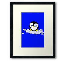 Penguin geek funny nerd Framed Print