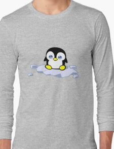 Penguin geek funny nerd Long Sleeve T-Shirt