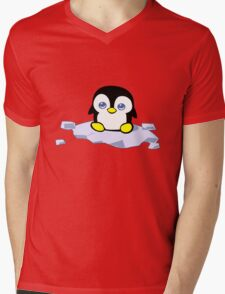 Penguin geek funny nerd Mens V-Neck T-Shirt