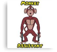 Monkey assistant - pout #1 Canvas Print